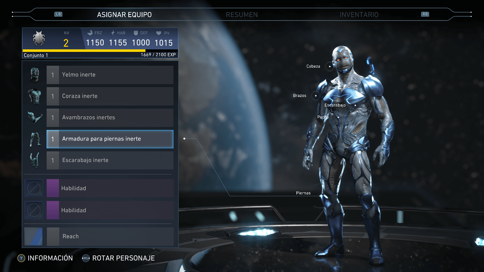 Injustice™ 2 - Stats de Blue Bettle