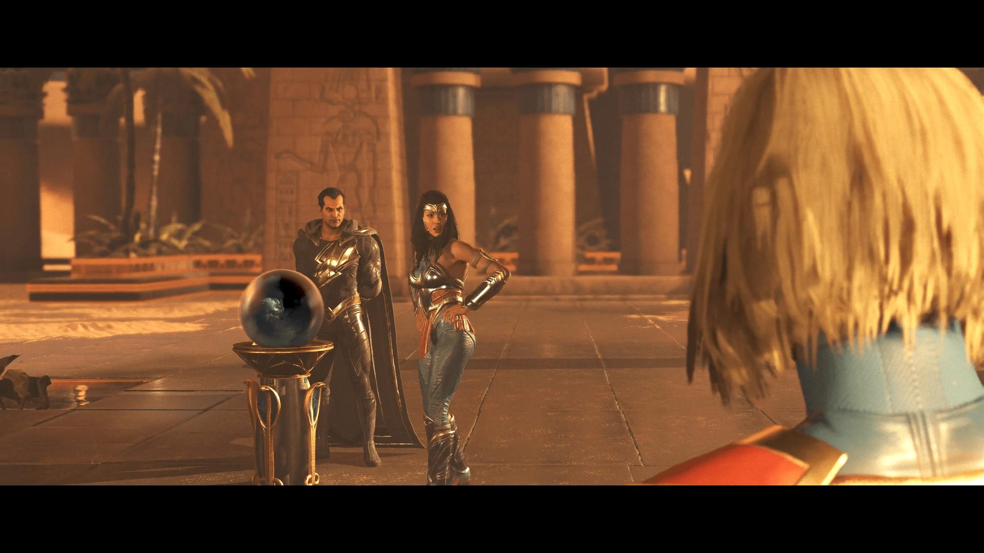 Injustice™ 2 - Supergirl hablando con Wonder Woman y Black Adam
