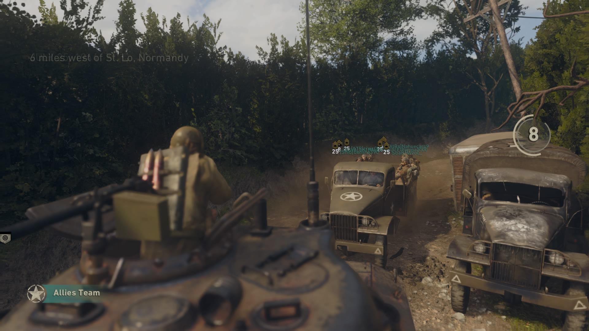 cod ww2 - defendiendo tanque