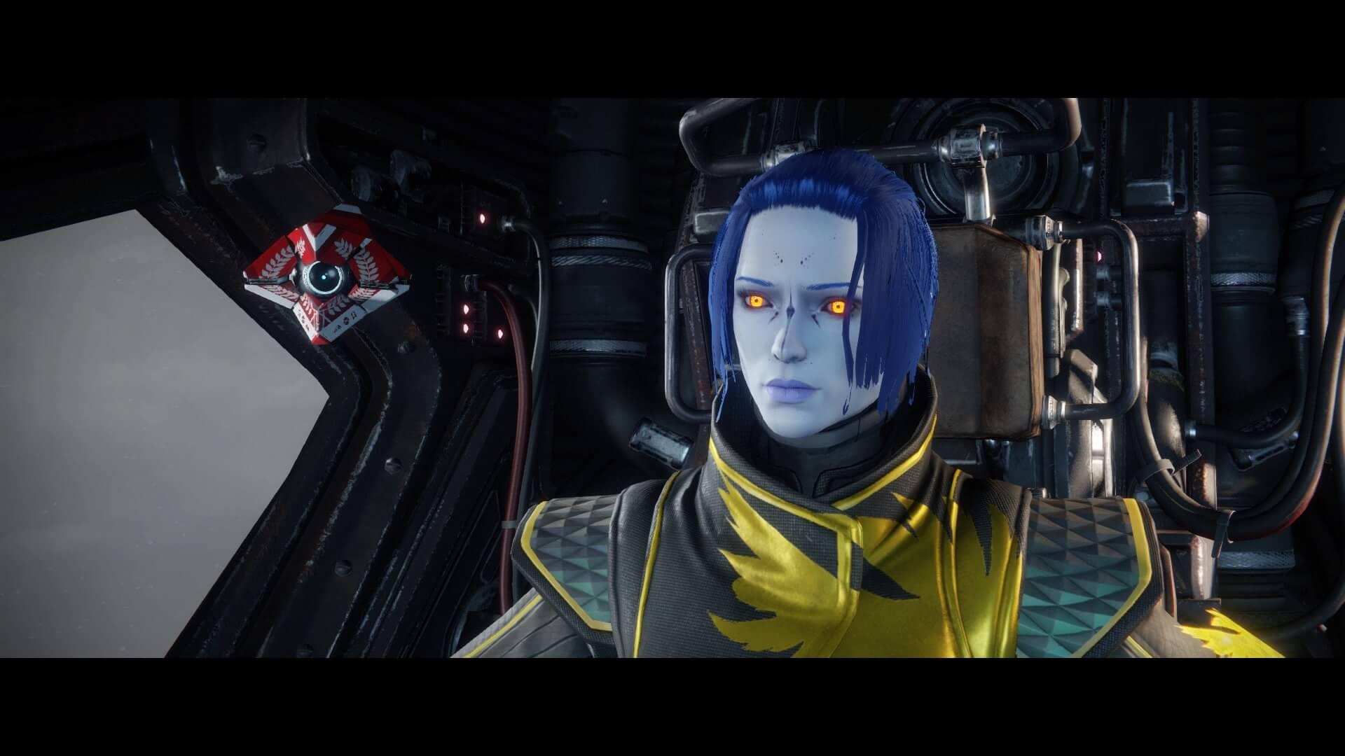 Destiny 2 - personaje dentro de la nave