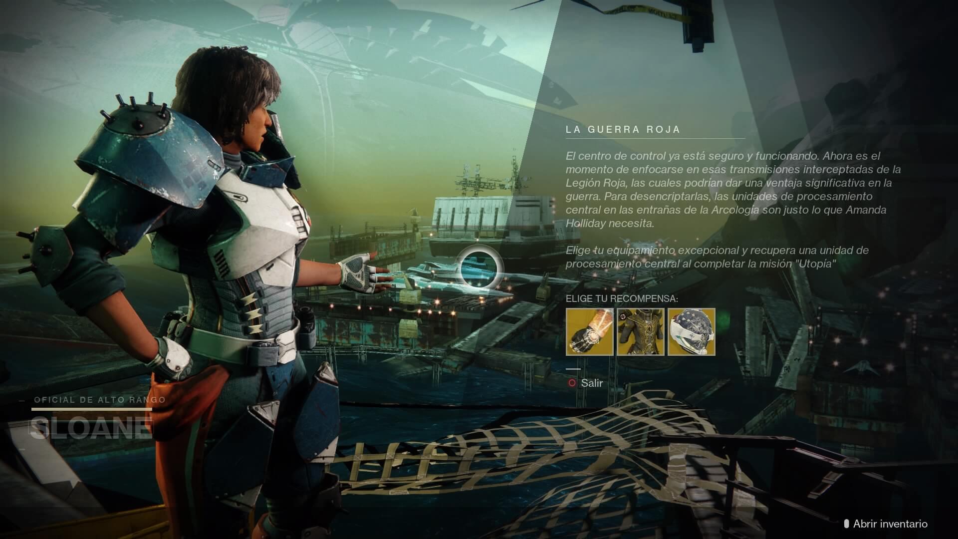 Destiny 2 - misiones de Sloane
