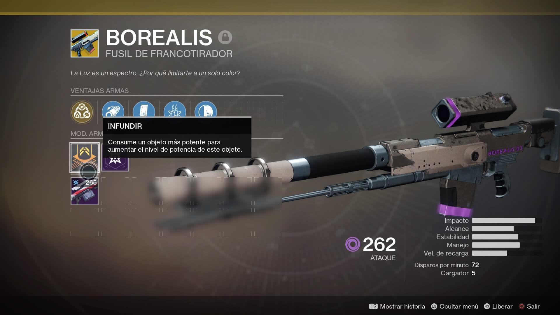 Destiny 2 - Infusión arma excepcional