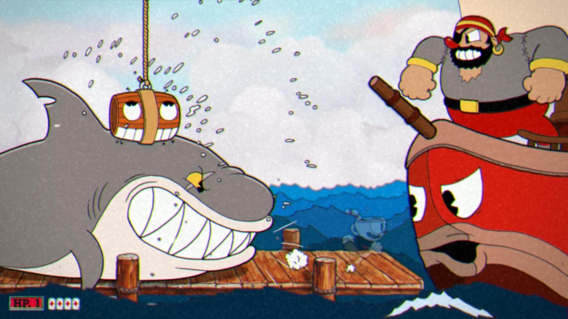 Cuphead - Captain Britneybeard atacando