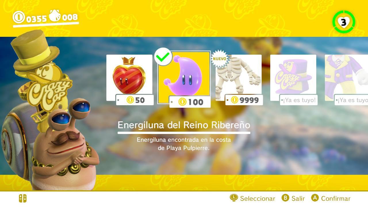 EGLA - Super Mario Odyssey Microtransacciones