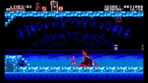Bloodstained curse of the moon_accion