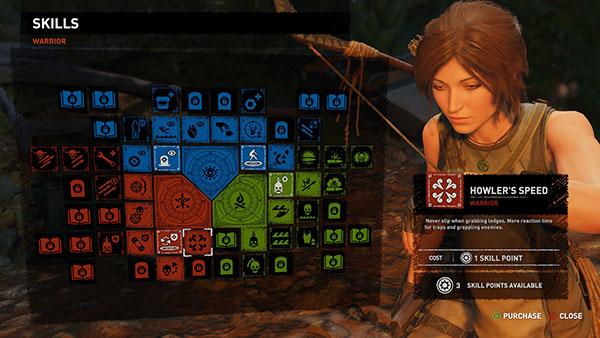 Shadow of the Tomb Raider - Talentos