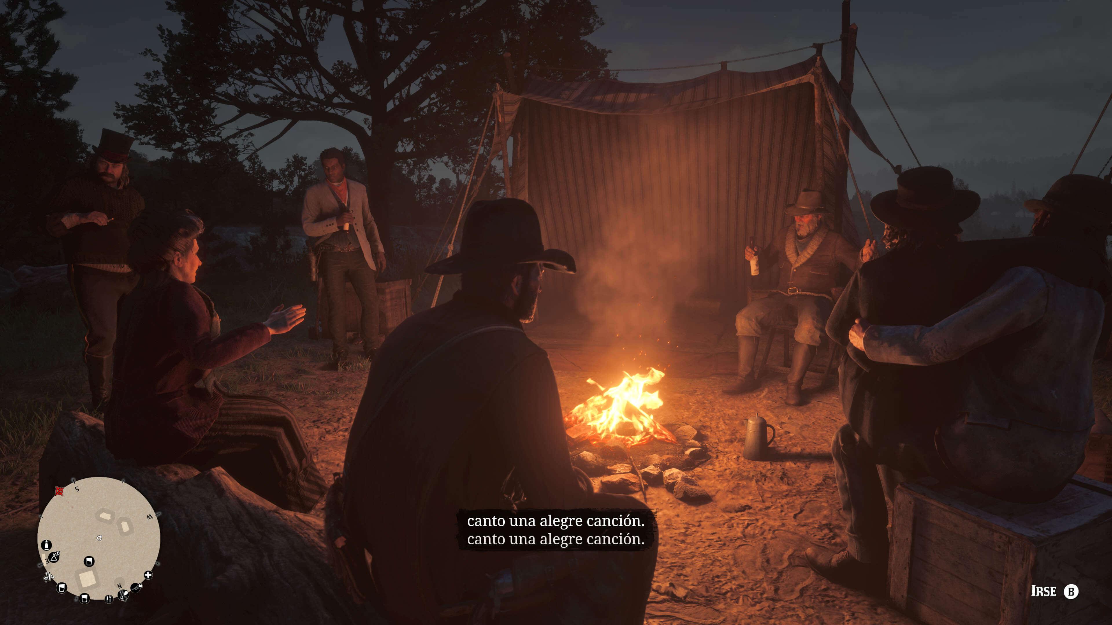 Red Dead Redemption 2_el campamento