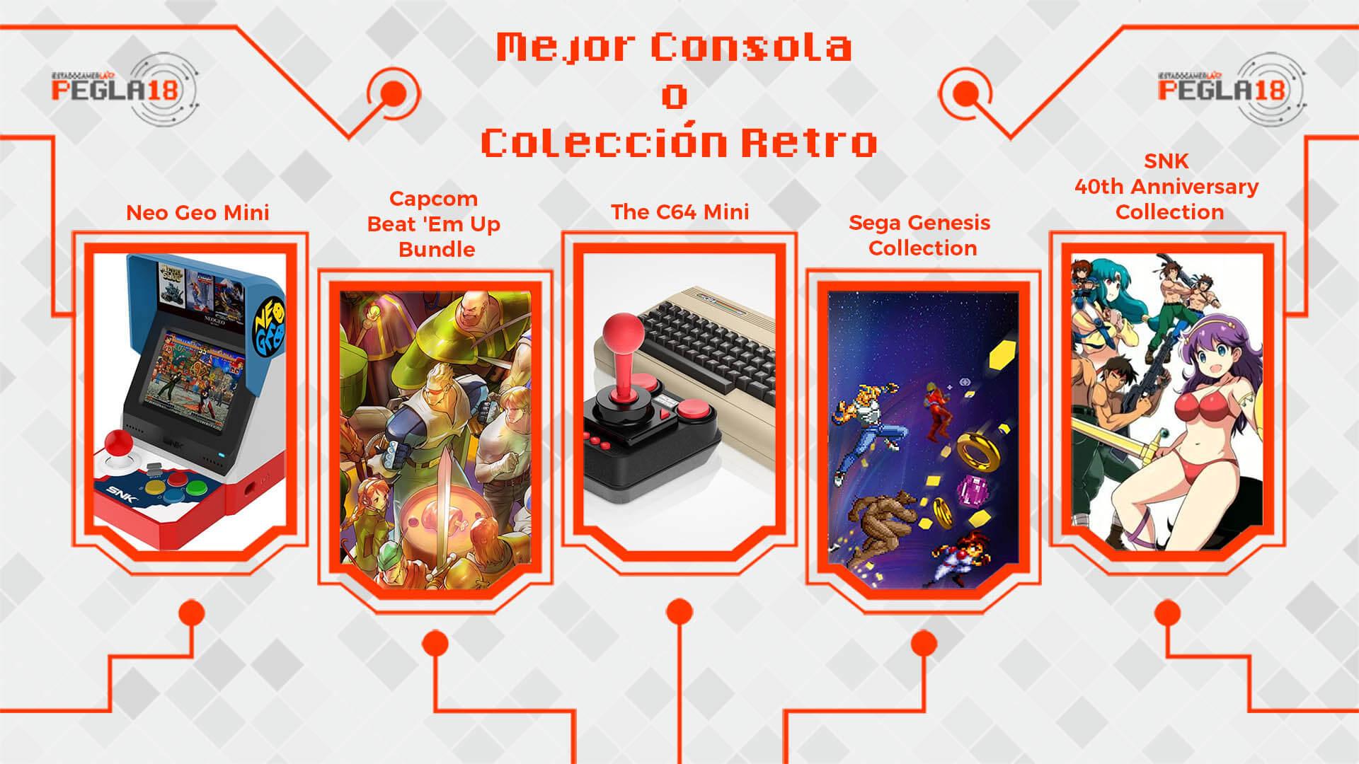 Premios EGLA 2018 Mejor Consola o Colección Retro