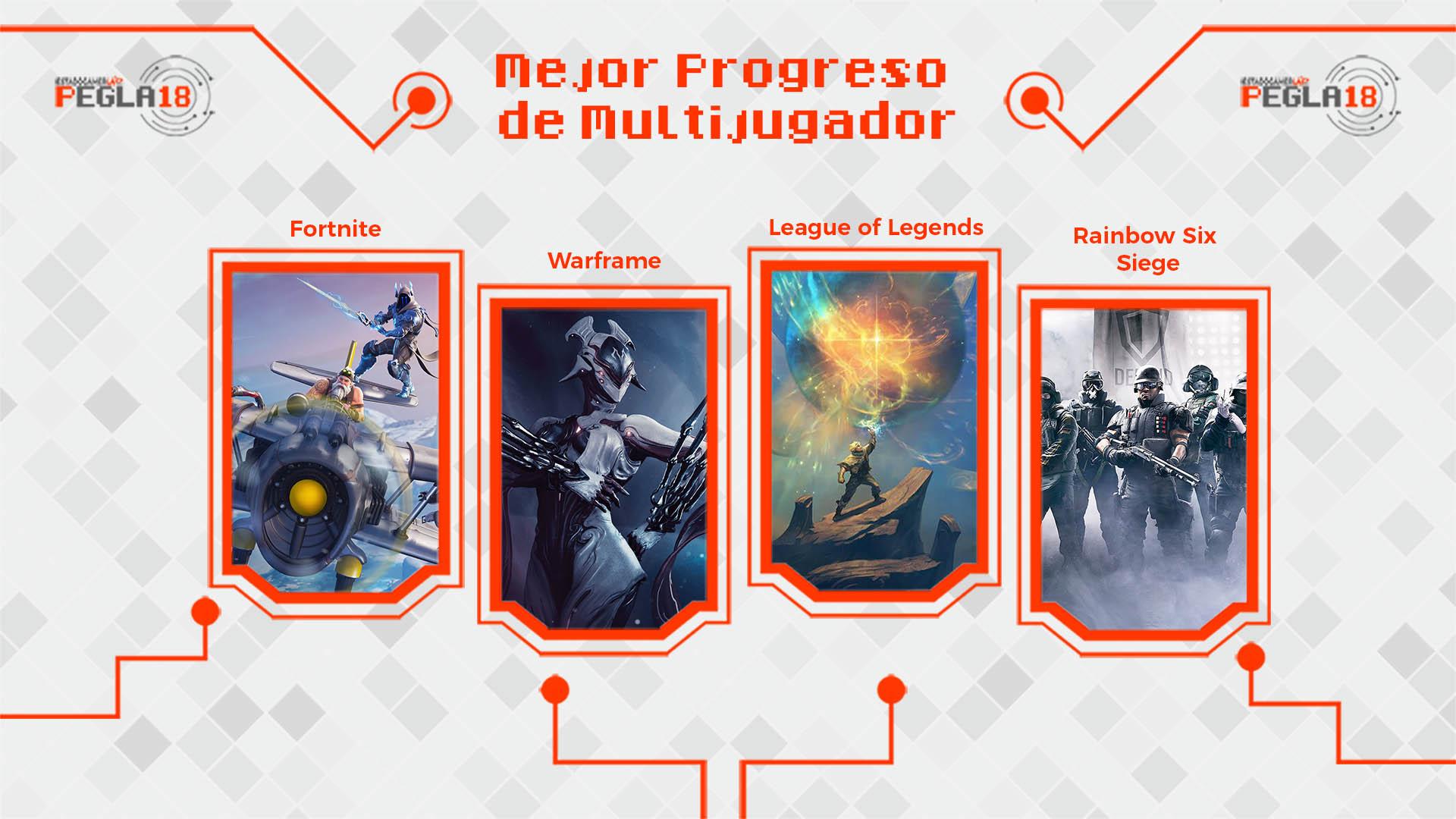 Premios EGLA 2018 Mejor Progreso de Multijugador