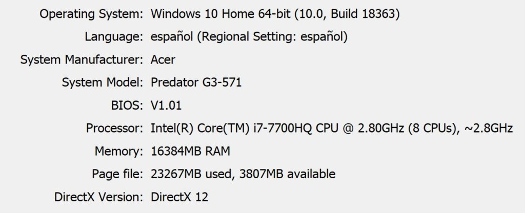 Red Dead Redemption 2 - Specs