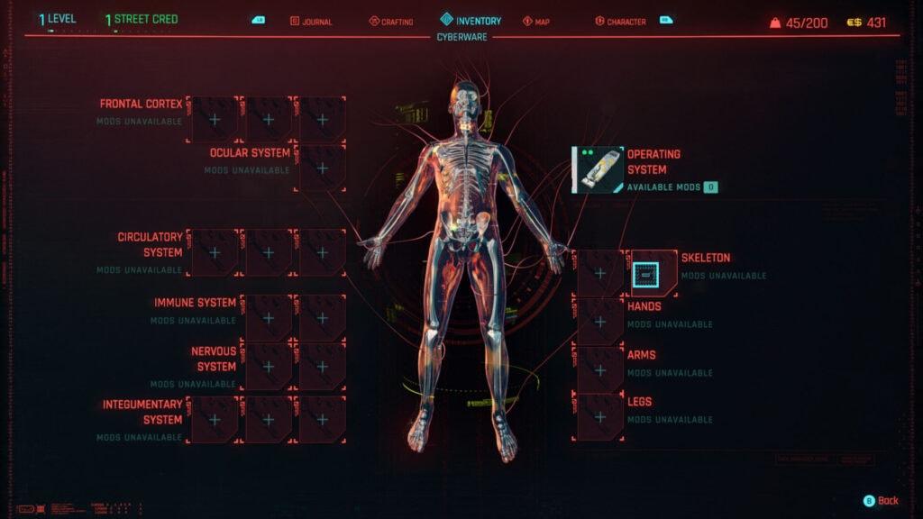Cyberpunk 2077 - Personalizacion