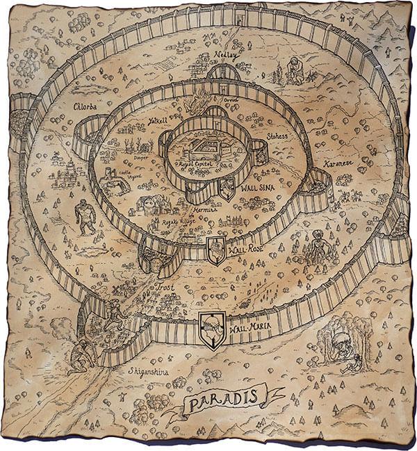 Attack On Titan - Mapa de Paradis
