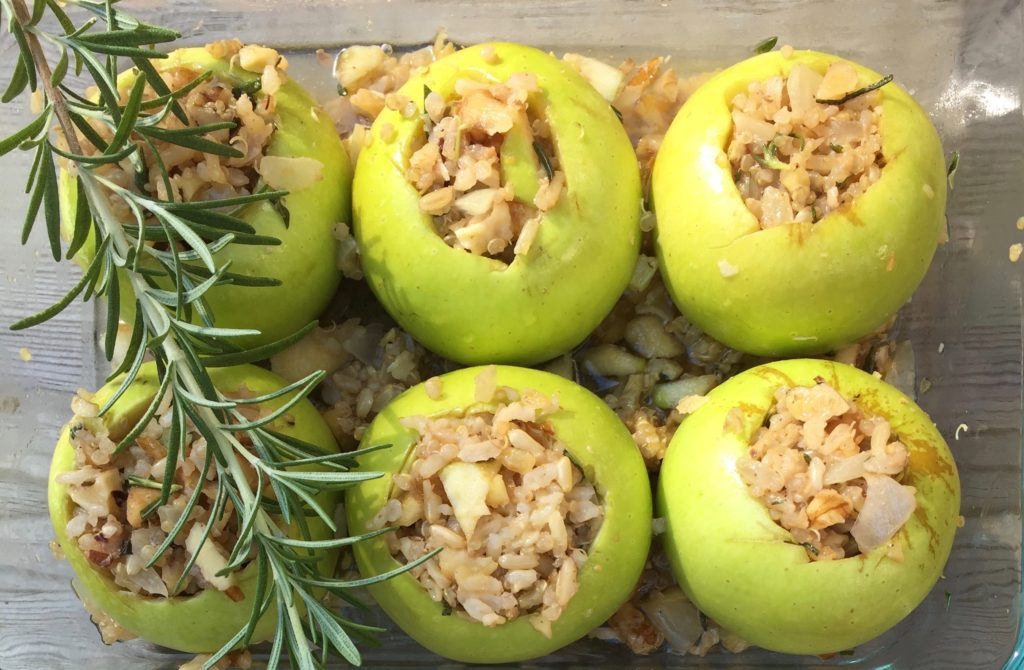 quinoa and brown rice baked apples