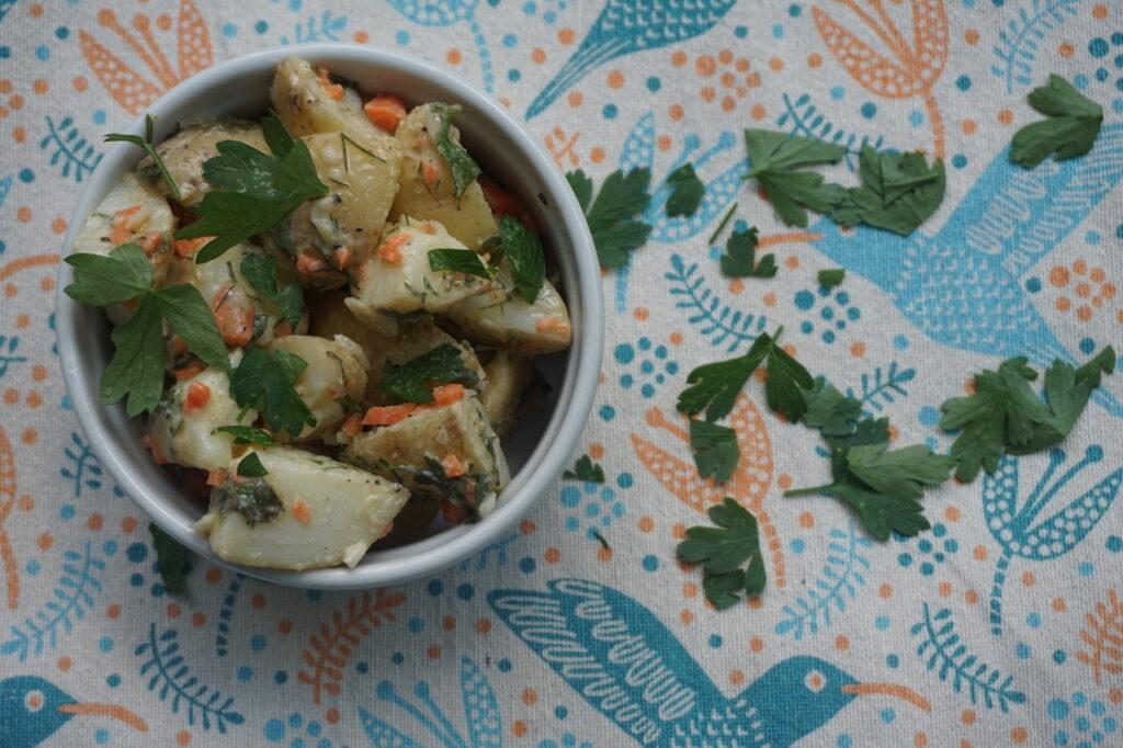 creamy potato salad with fresh herbs