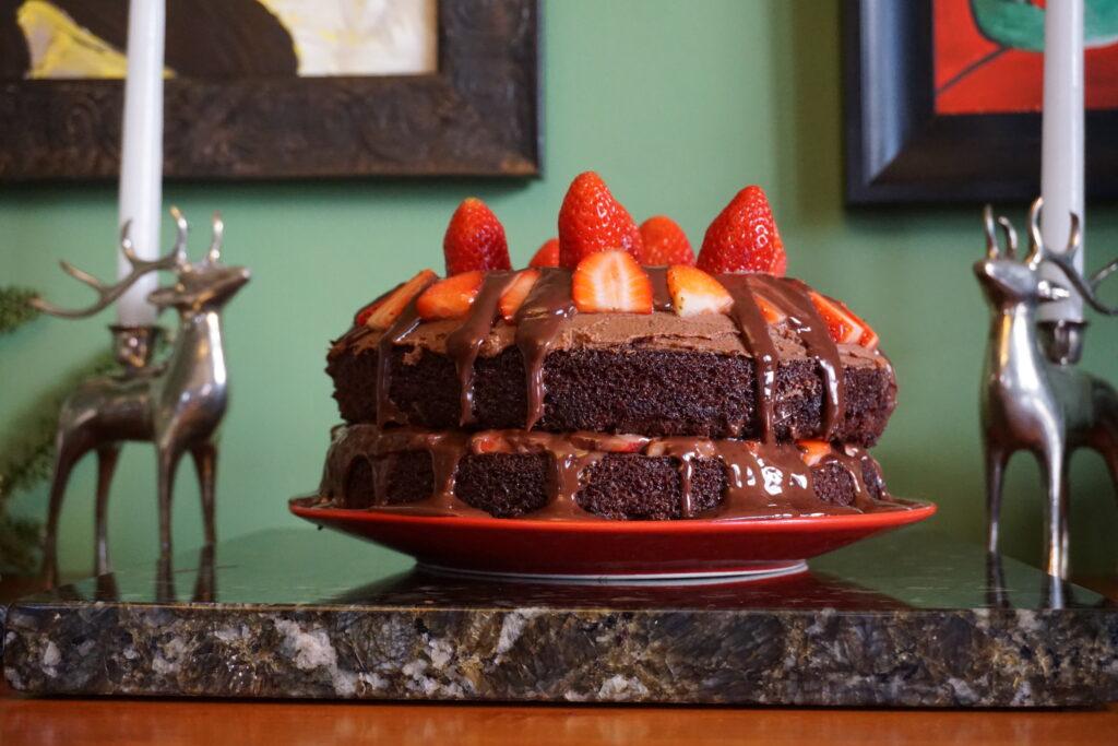 layered chocolate cake