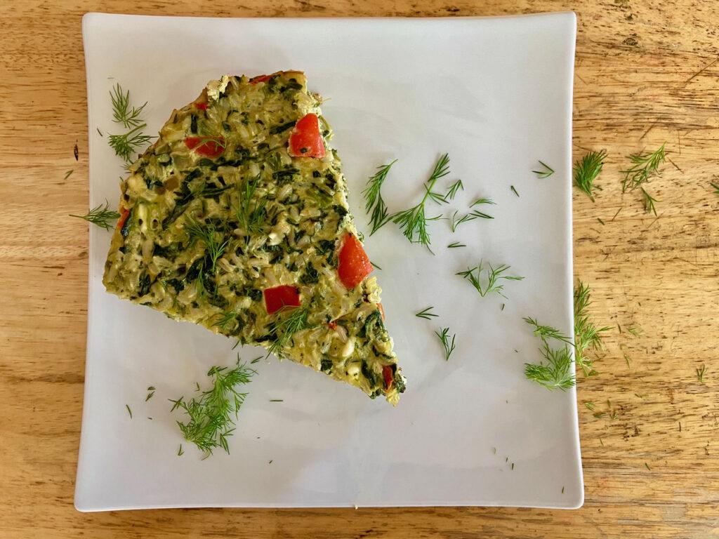 spinach rice feta casserole