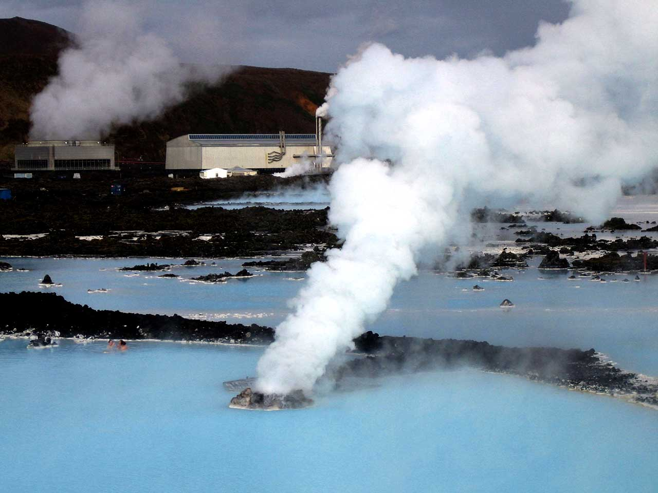 Iceland uses geo-thermal energy