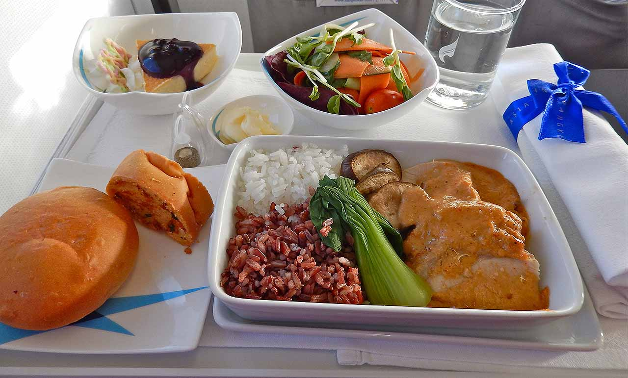 Airplane food, bland, air pressure