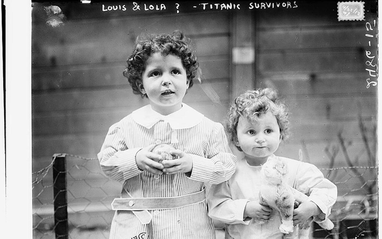 French boys, brothers Michel (age four) and Edmond Navratil (age two)