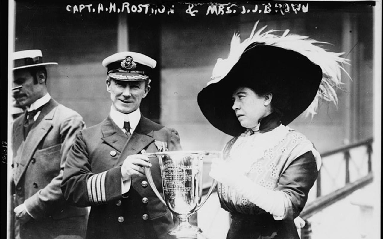 """The Unsinkable Molly Brown"", Carpathia captain"