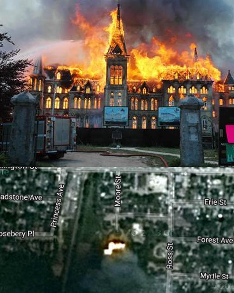 Alma College, fire, tragedy
