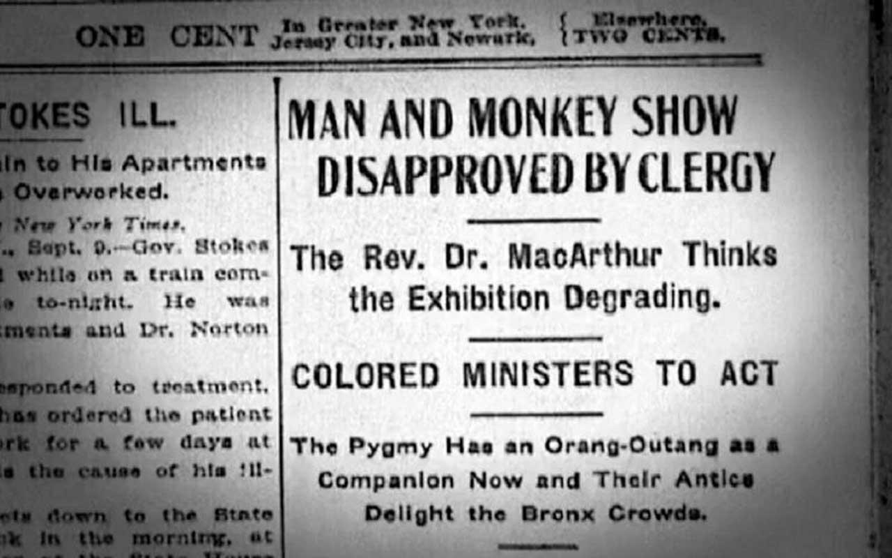 Ota Benga, Monkey, ad, newspaper