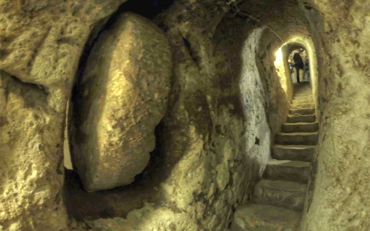 Man knocks down wall in his house to discover the Derinkuyu Underground City.