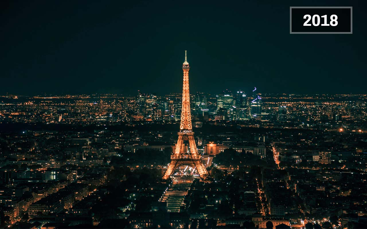 Paris, France (1900, Today), Eiffel Tower, France, Europe