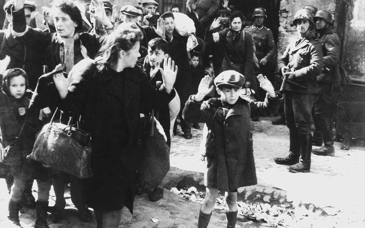 Jewish Boy surrenders to German troops