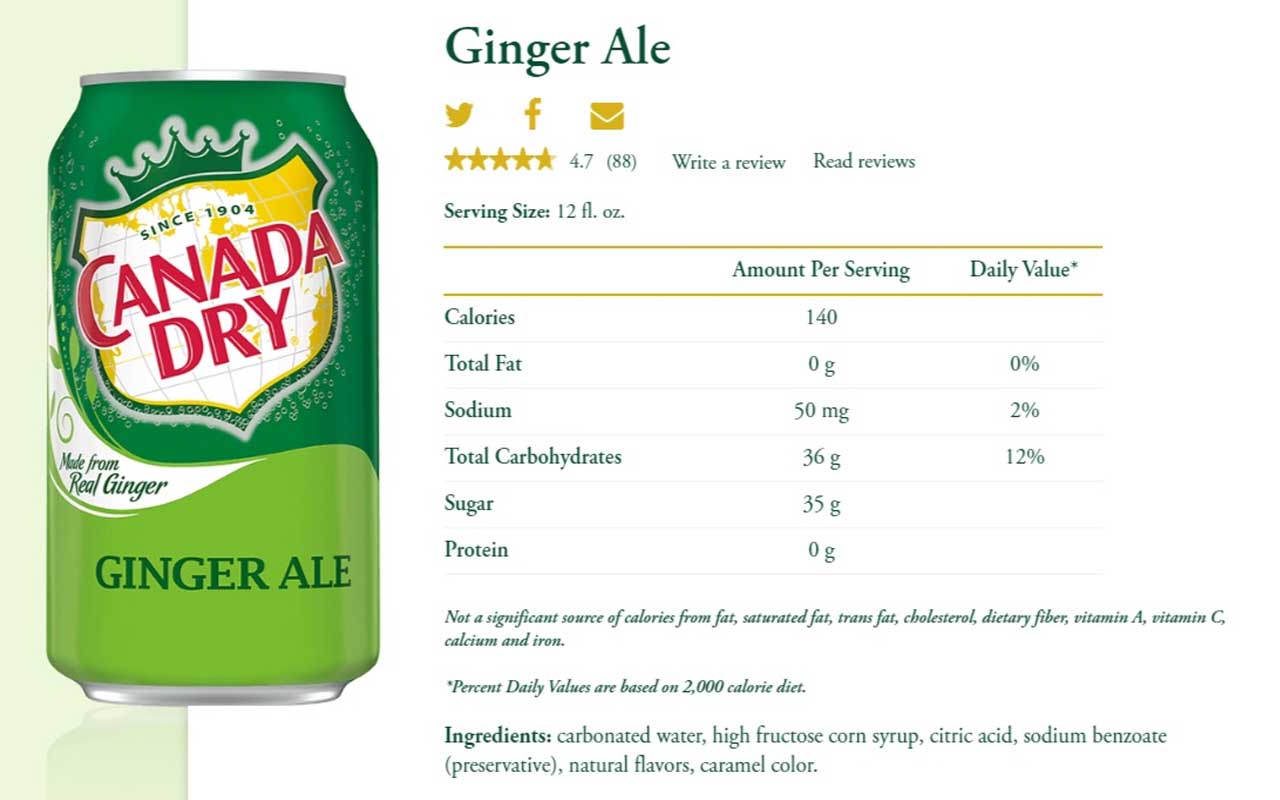 Canada Dry, Ginger Ale