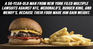 food, lawsuits, facts, people, life