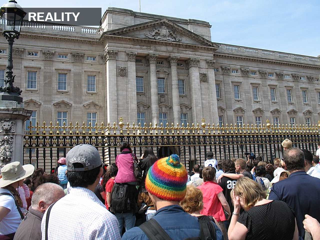 Apparently, *a lot* of people love watching Buckingham Palace's guards change.