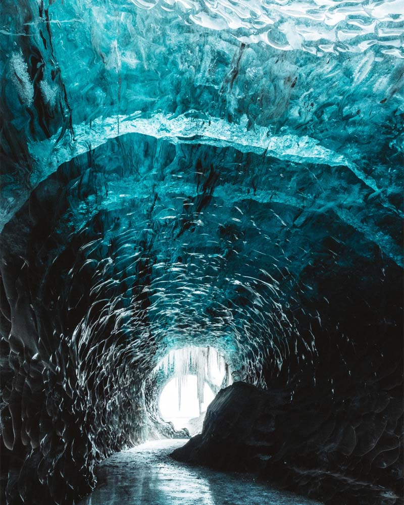 Ice caves, Iceland