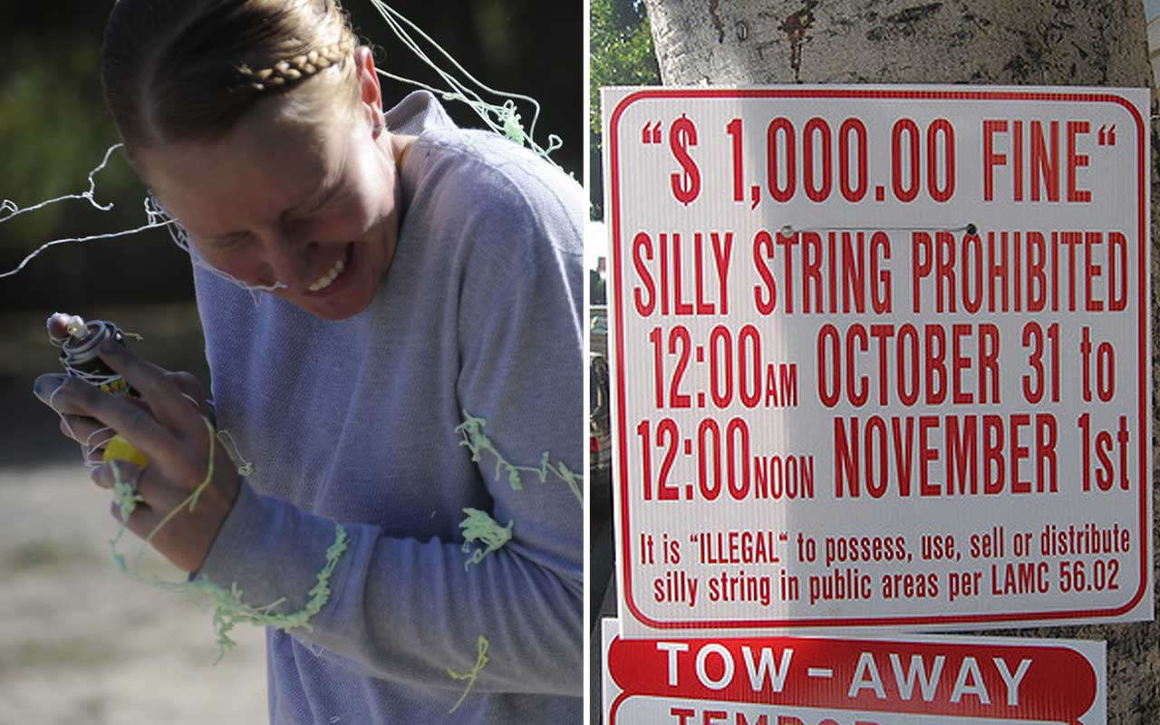 Silly string, Hollywood, Halloween