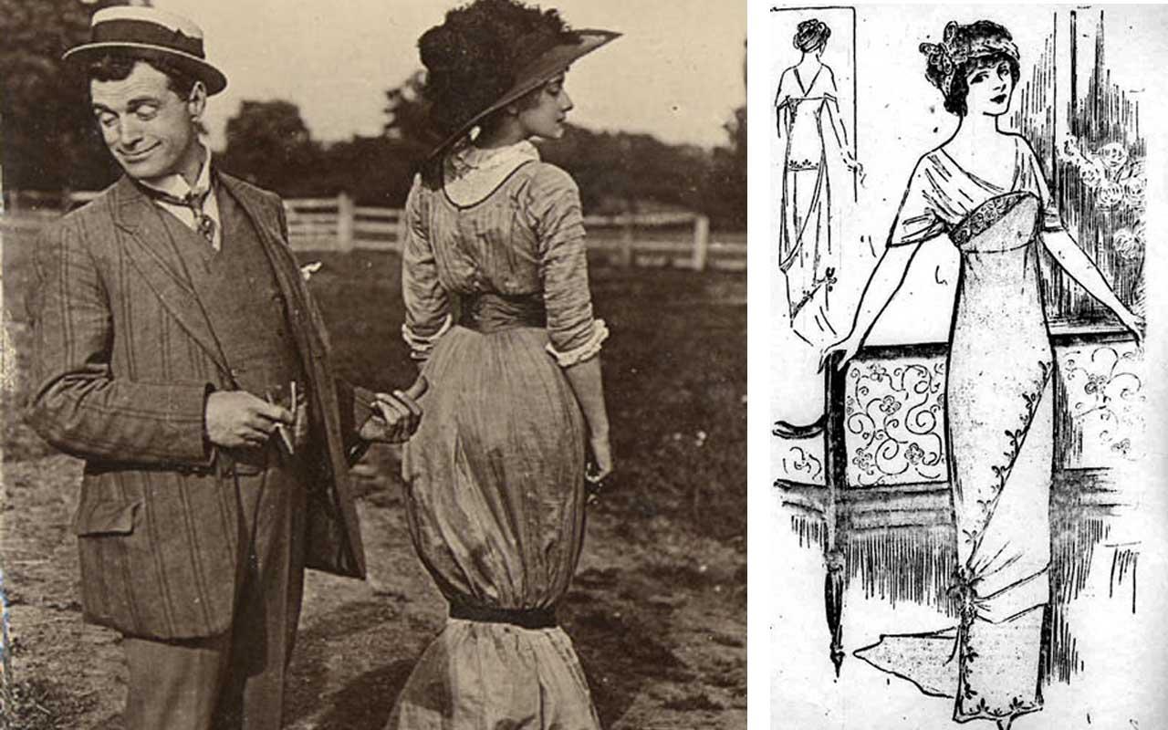 Hobble Skirts, fashion, history