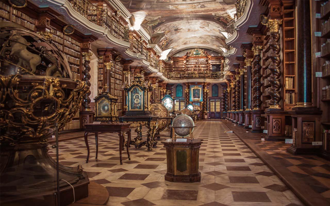 Library, libraries, Prague, history
