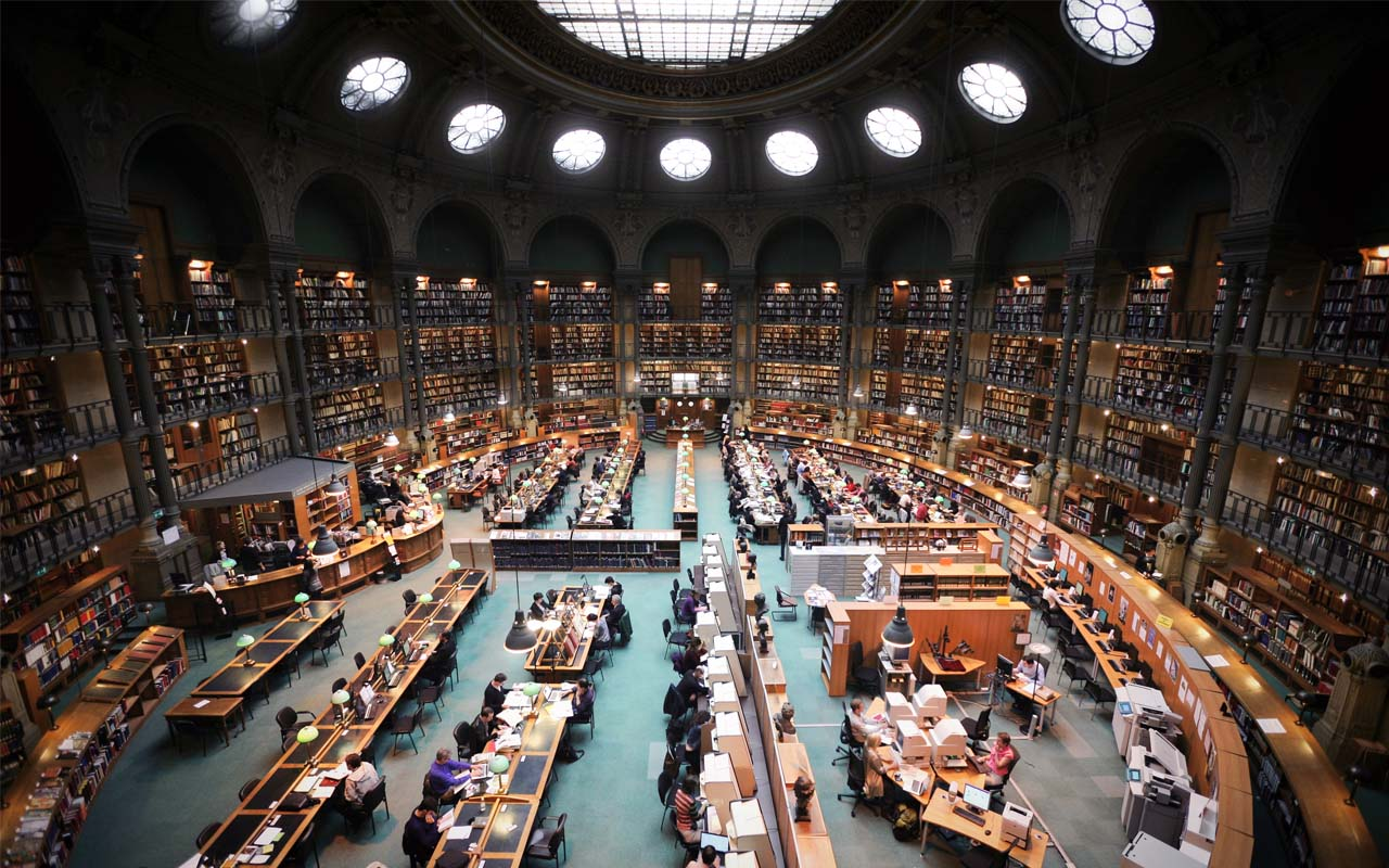 National library, France, reading, facts, love