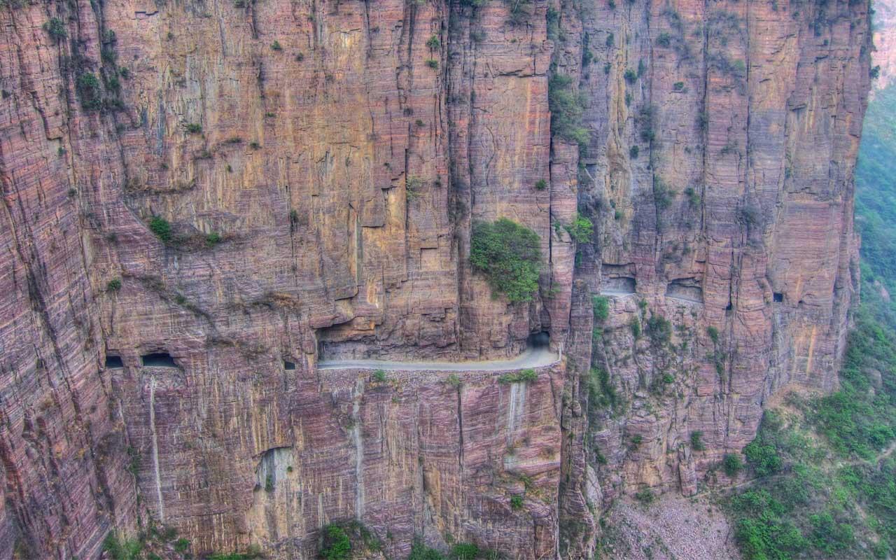 Guoliang Tunnel, China, facts, roads