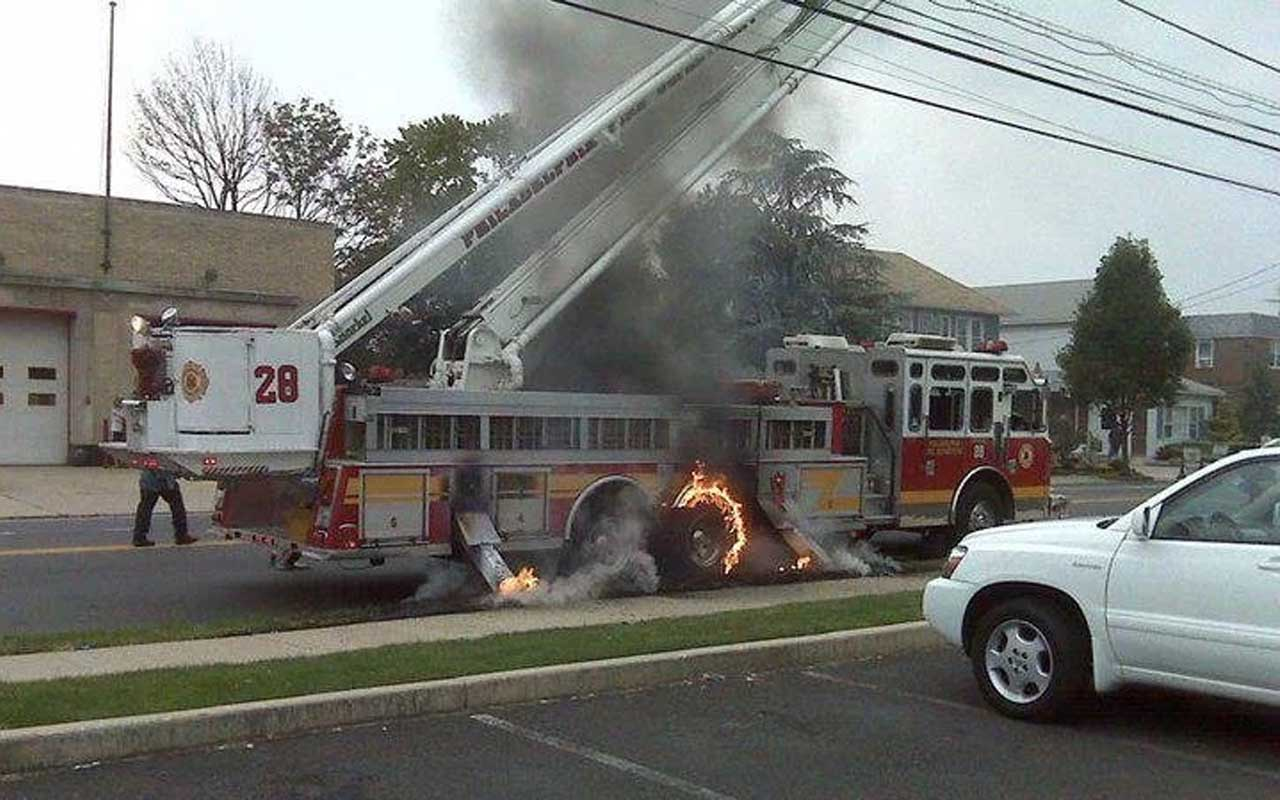 truck, firefighters, rig