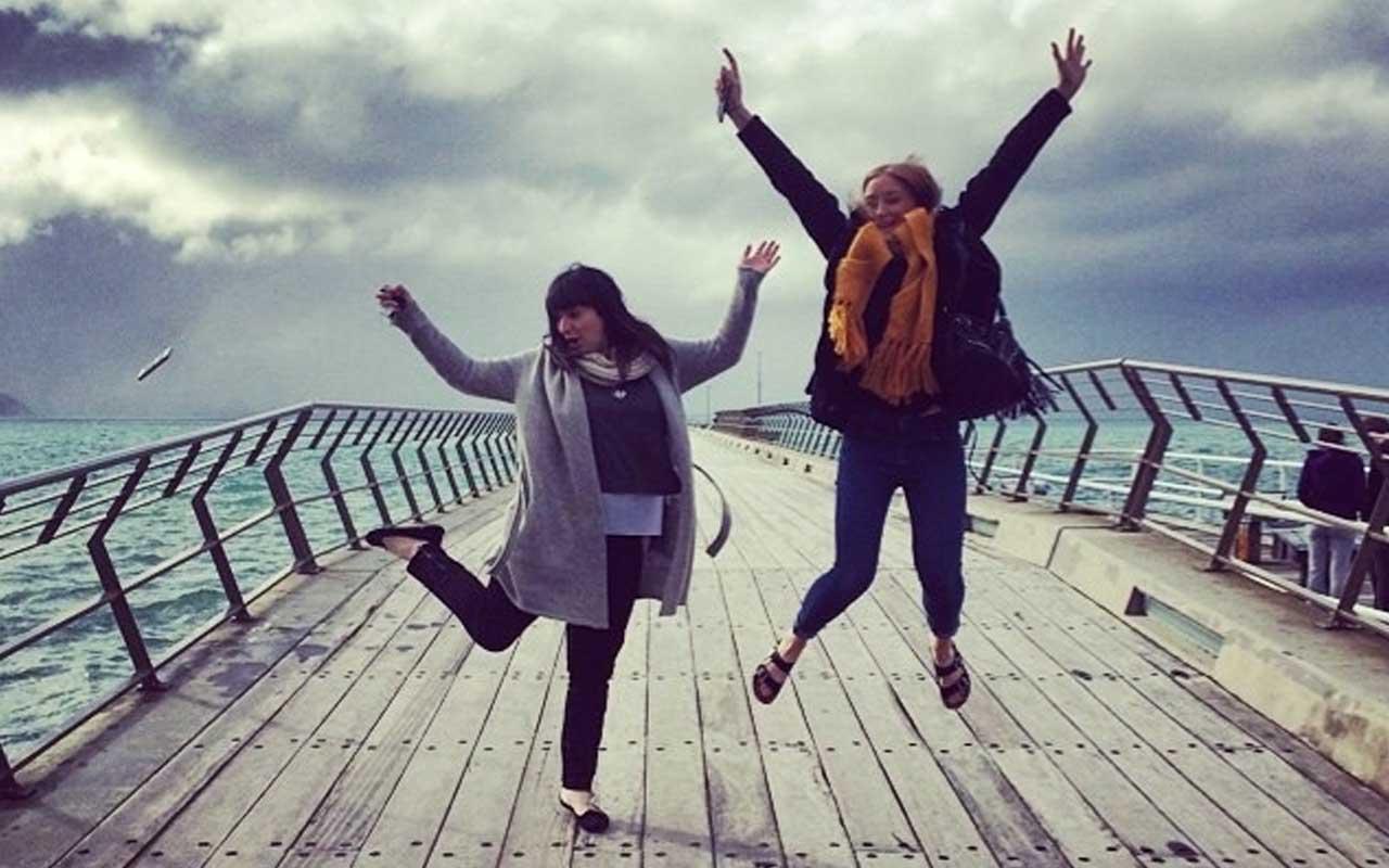 Selfie, jumping, funny