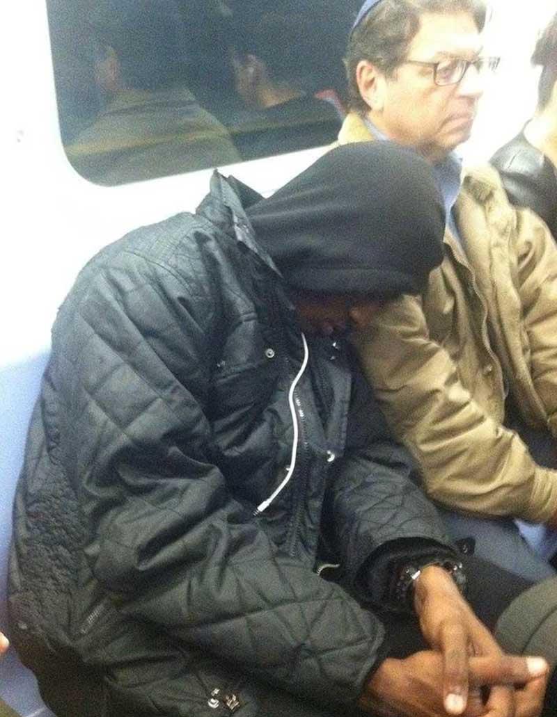 subway, people, sleeping, life