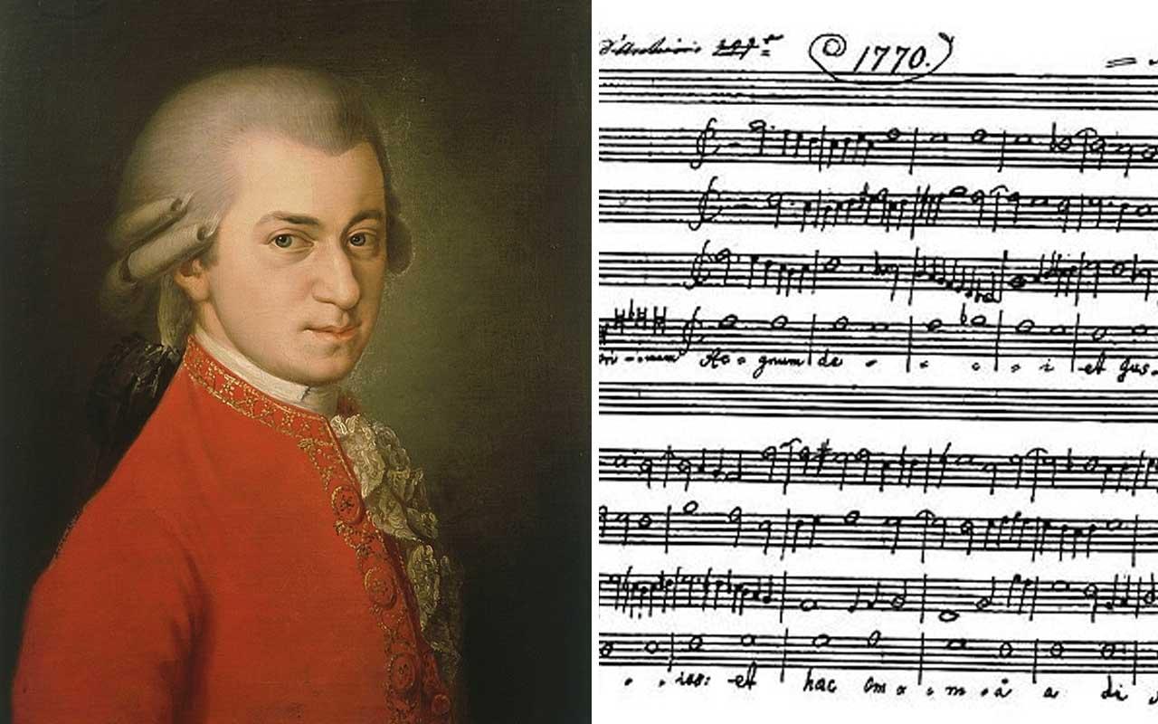 Mozart, music, Vatican, history