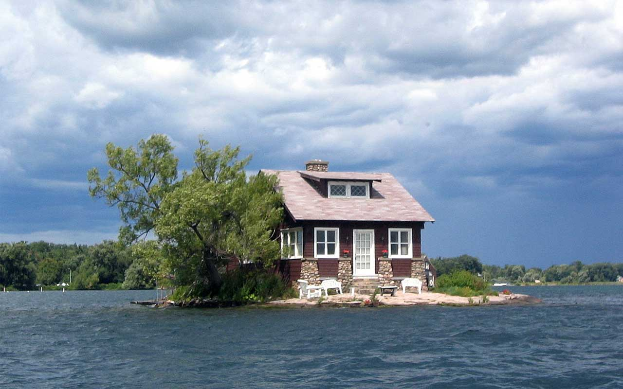 Just Room Enough, island, New York