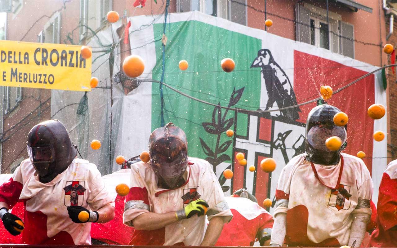 Ivrea Carnival, facts, Italy, life
