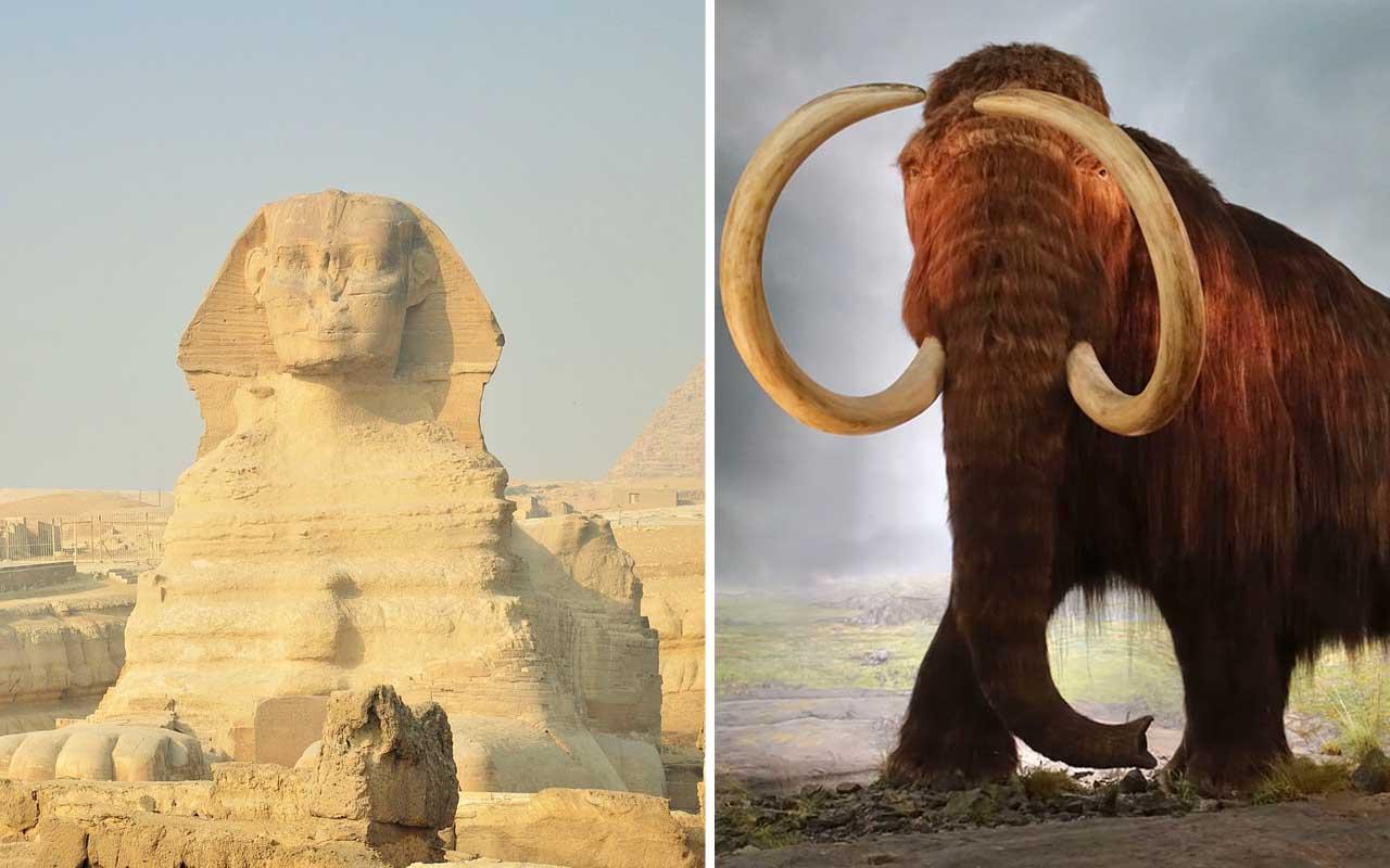 Giza, Pyramids, Mammoth, nature, history
