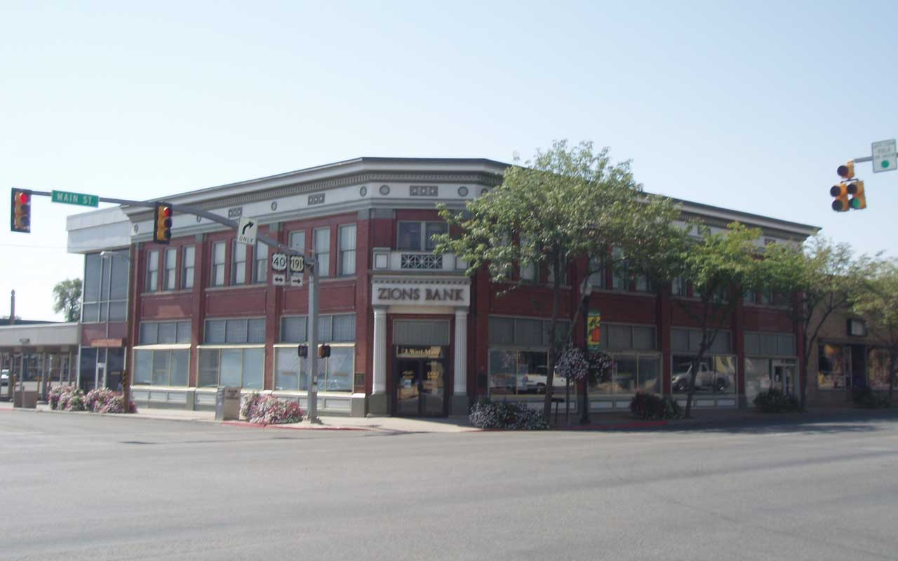 Vernal Bank, Utah, building, facts, mailed