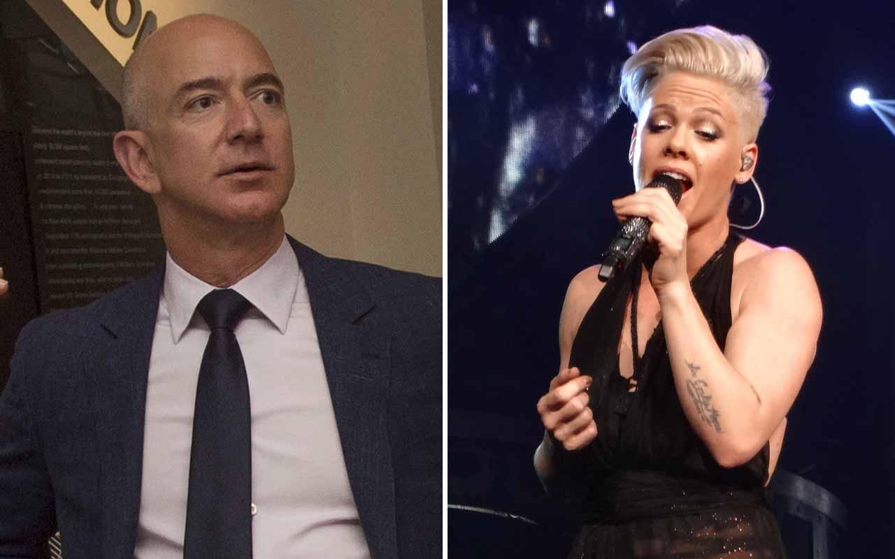 Jeff Bezos, Pink, singer, McDonald's