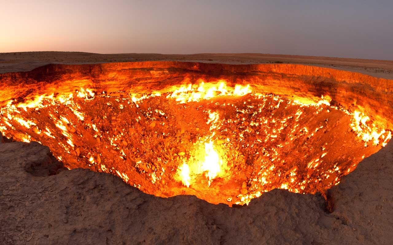 Darvaza, crater, Turkmenistan, burning, facts, life
