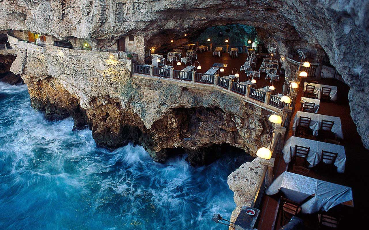 Hotel Ristorante Grotta Palazzese Polignano a Mare, Italy, travel, tour, facts
