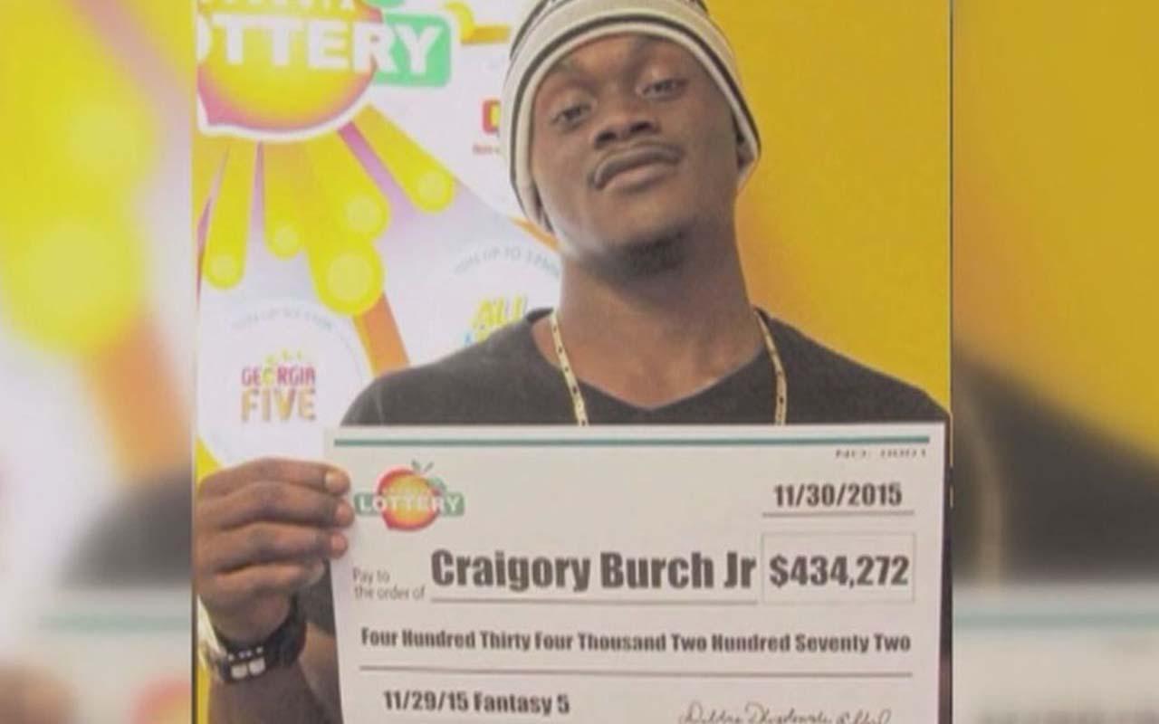 Craigory Burch Jr., lottery, jackpot, winner, facts